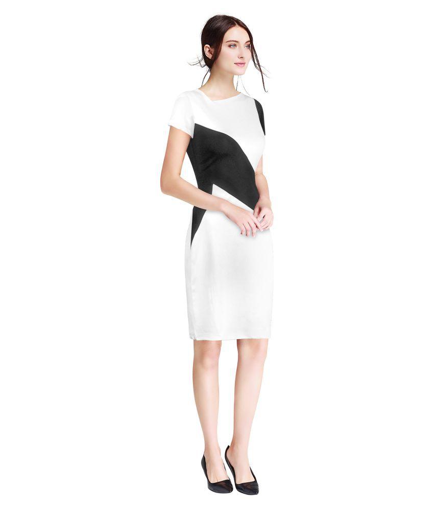 TRYZY Cotton White Regular Dress