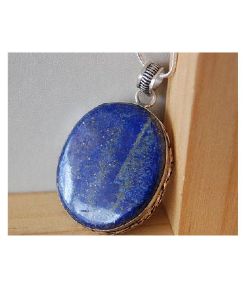 4.5 ratti silver  lapis lazuli  Pendantfor unisex by Kundli Gems\n