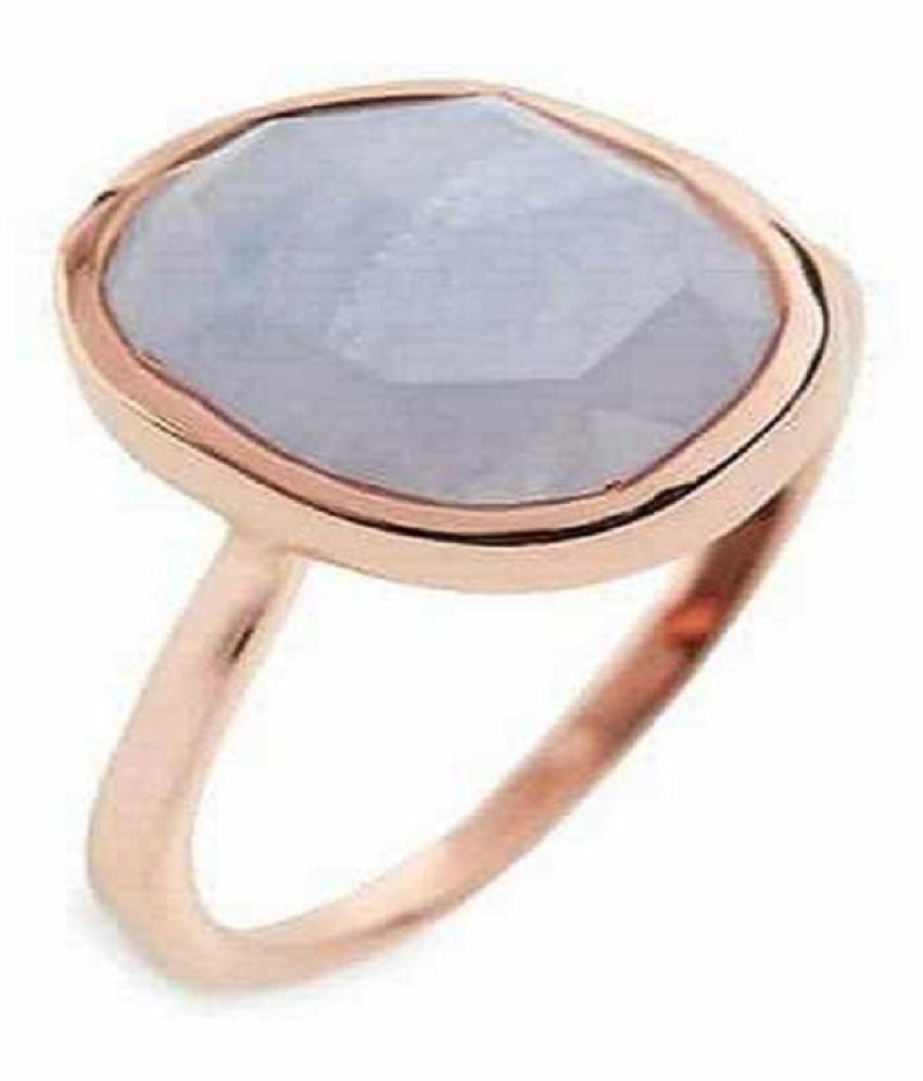 5 Ratti Natural IGI Lab Certified MOONSTONE Stone Gold Ring By Ratan Bazaar