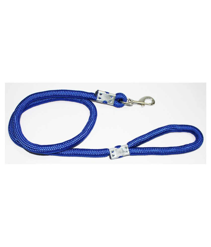 Petshop7 Premium Quality Strong & Durable Dog Leash Blue Rope 12mm Length - 58inch