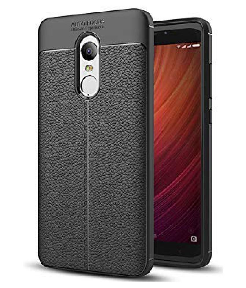 Xiaomi Redmi Note 4 Shock Proof Case Designer Hub   Black Autofocus Back Cover Case