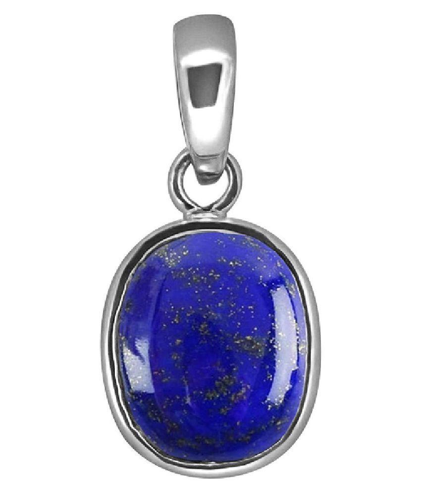 7.5 ratti natural lapis lazuli  Stone pure Silver Pendant