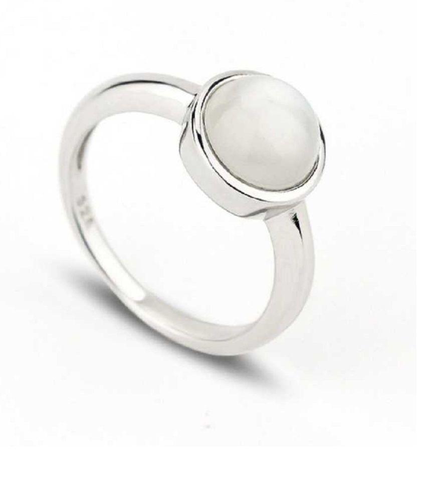 MOONSTONE  original & lab certified 8.25 ratti silver Ring for astrological purpose by Ratan Bazaar\n