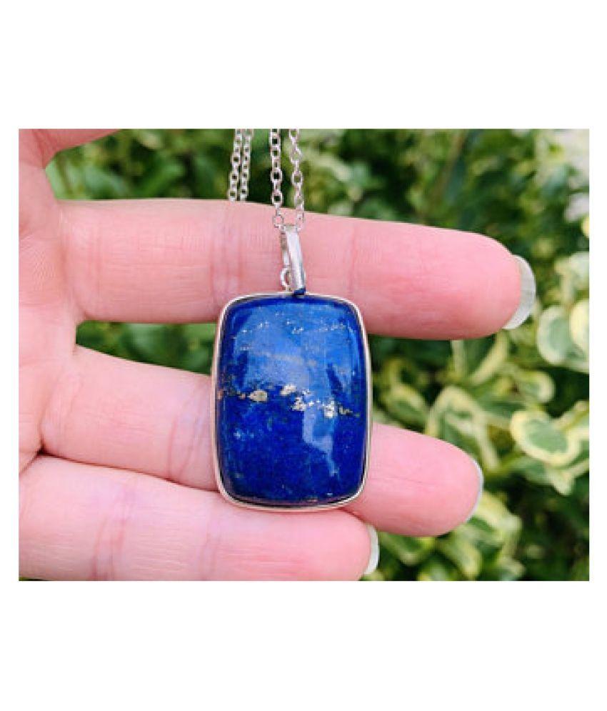 10.25 Ratti Lab Certified Stone 10.25 Original lapis lazuli  silver Pendant for unisex by Kundli Gems\n