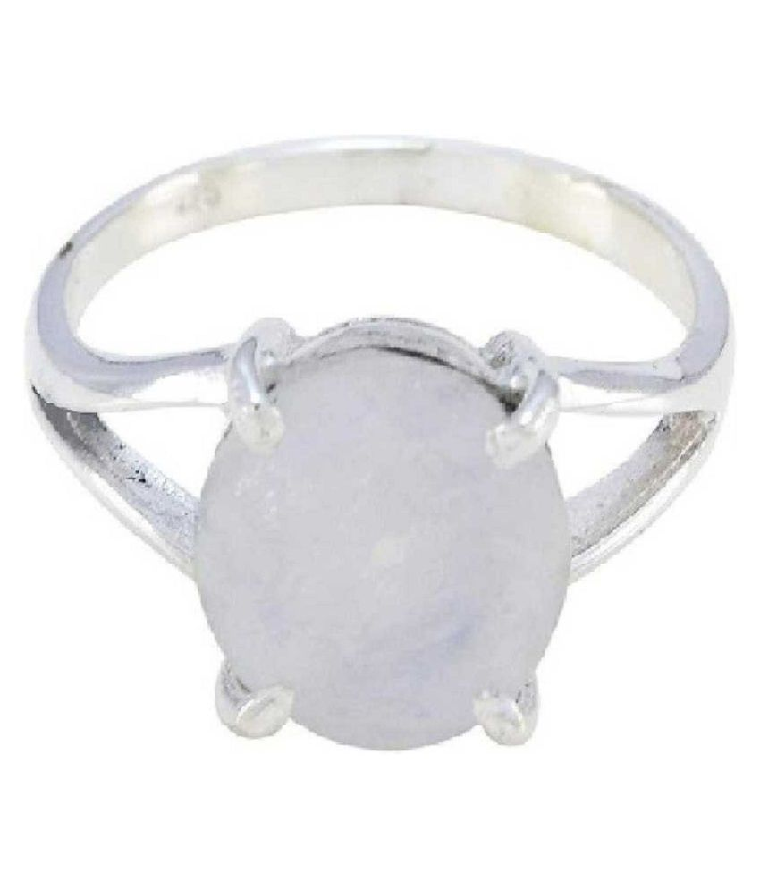 11.5 Carat  MOONSTONE   Ring with lab Report silver MOONSTONE  Stone by Ratan Bazaar