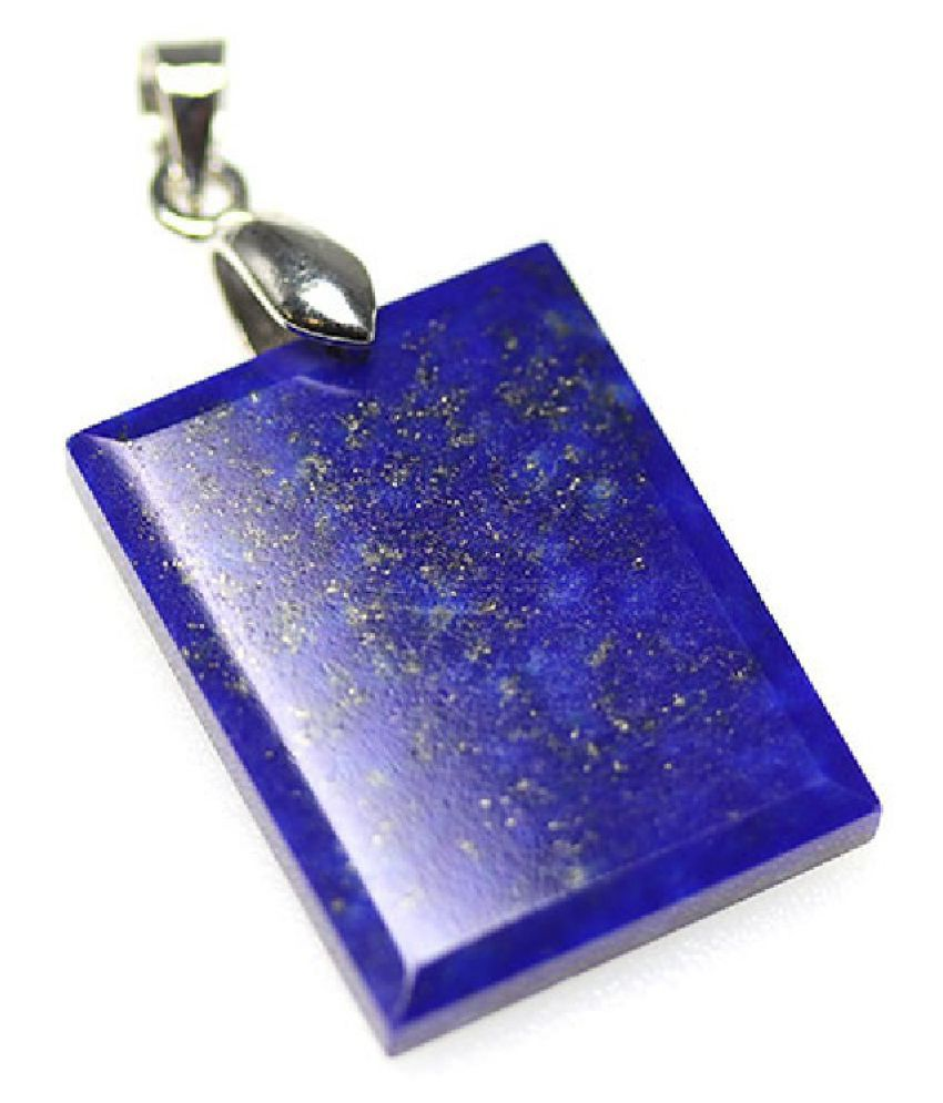 11.5 ratti Natural Lab certified Stone silver lapis lazuli  Pendant
