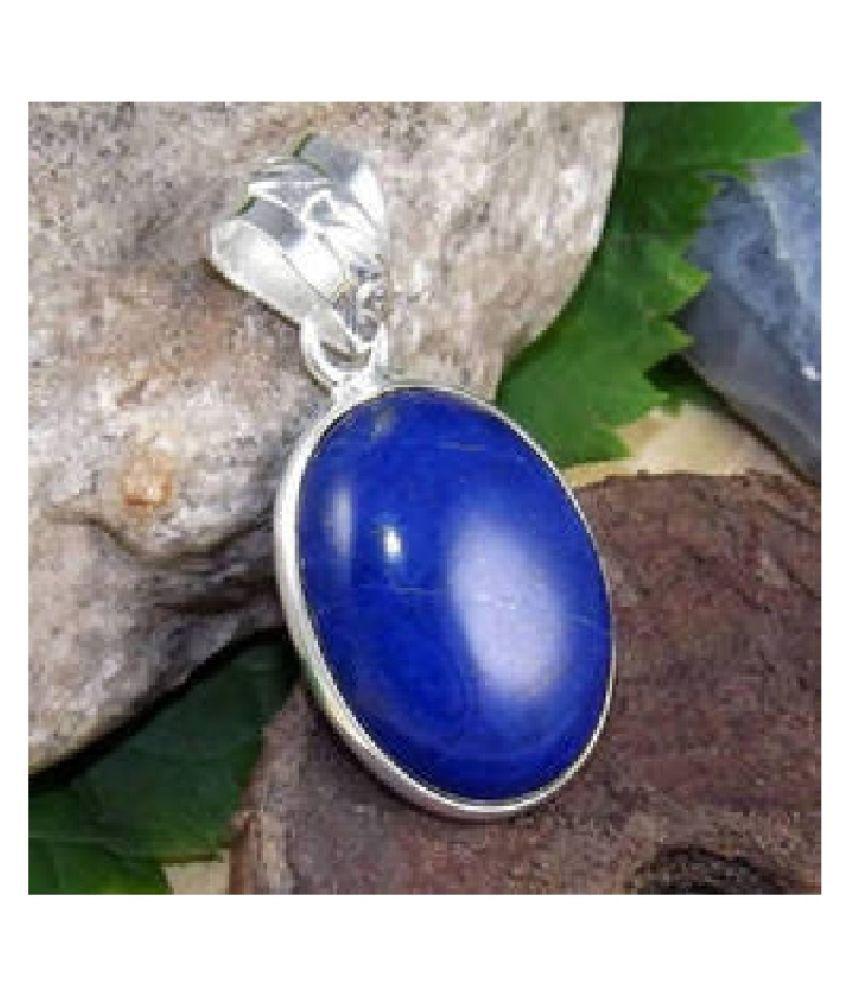 8.5 Ratti Lab Certified Stone 100% Original lapis lazuli  silver plated Pendant for unisex by Kundli Gems\n