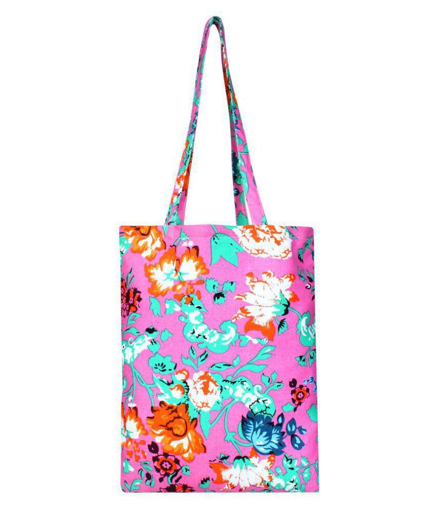 Anekaant Pink Canvas Shoulder Bag