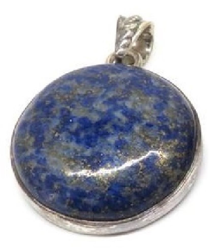 Natural lapis lazuli  10.5 Carat   silver Pendant by Kundli Gems\n