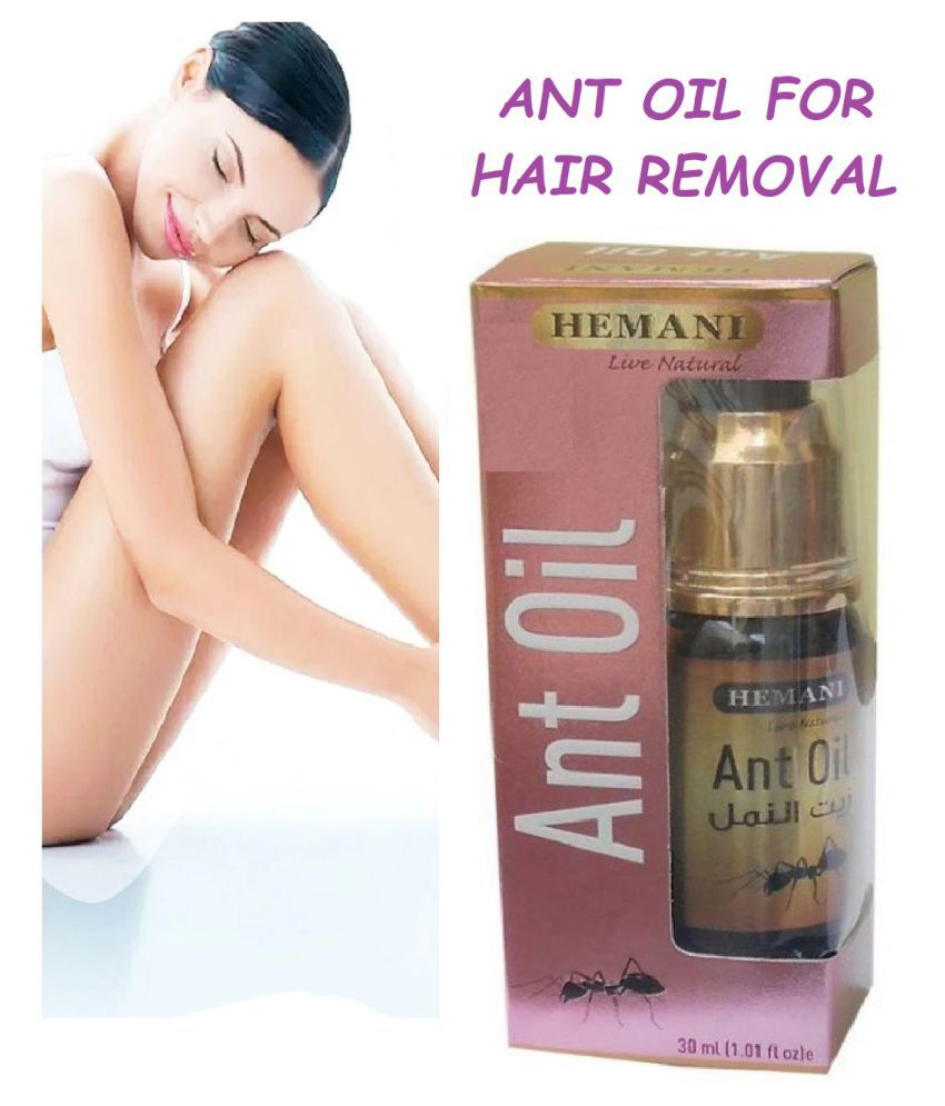 Hemani Live Natural Hair Removal Ant Oil Permanent Hair Removal Oil Hair Removal 30 mL