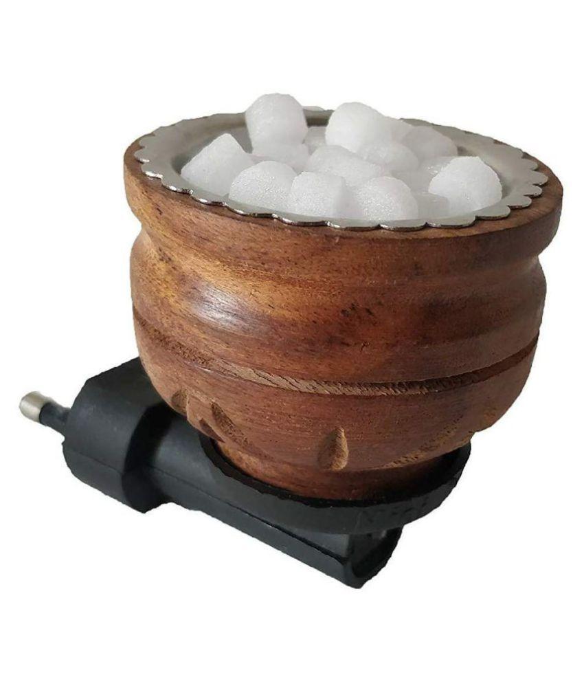 Wooden Camphor Kapoor Dhoop Dani Incense Holder Burner,Electric Diffuser Direct Plug for Home Office