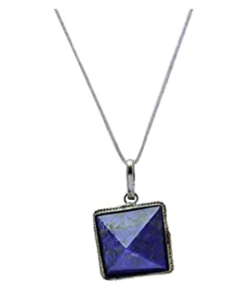 10 Ratti Lab Certified Stone 10 Original lapis lazuli  Silver Pendant for unisex by  Ratan Bazaar\n