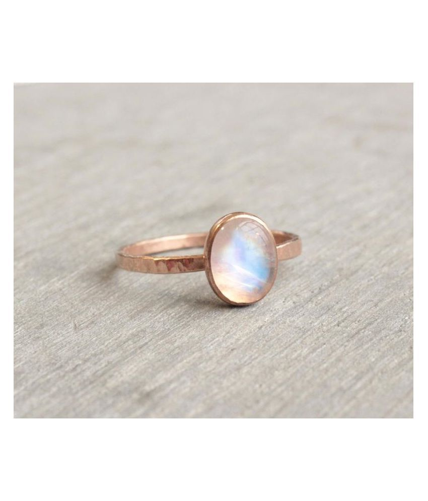 6.5 Carat Lab Certified  Gold Plated MOONSTONE   Ringfor unisex by Kundli Gems