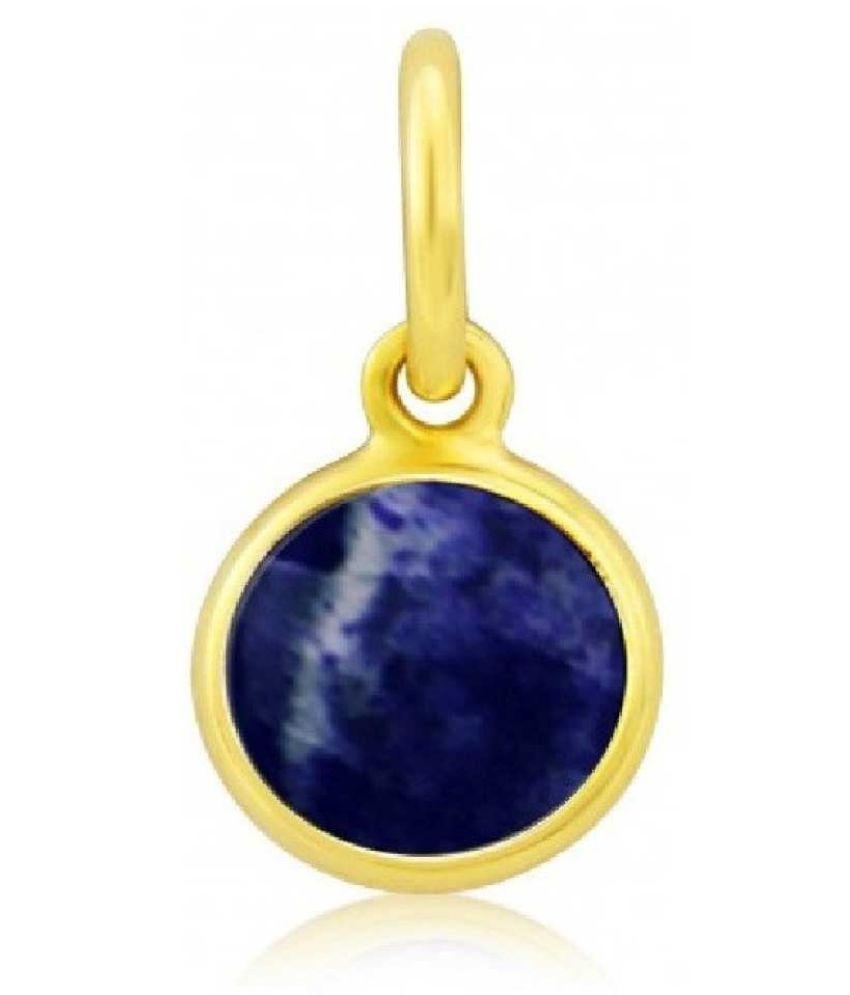 7 Original Lapis lazuli Stone Lab Certified Stone 7 Ratti gold plated Pendant by  Ratan Bazaar