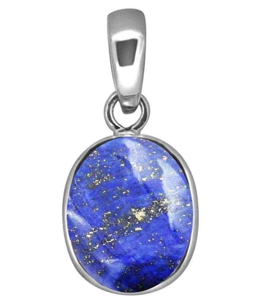 9.5 Ratti lapis lazuli  pure silver plated Pendantfor Unisex by   Ratan Bazaar\n