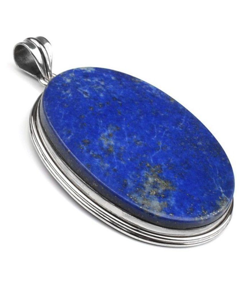 9 Carat blue lapis lazuli Pendant with lab Report Silver lapis lazuli blue Stone by  Ratan Bazaar
