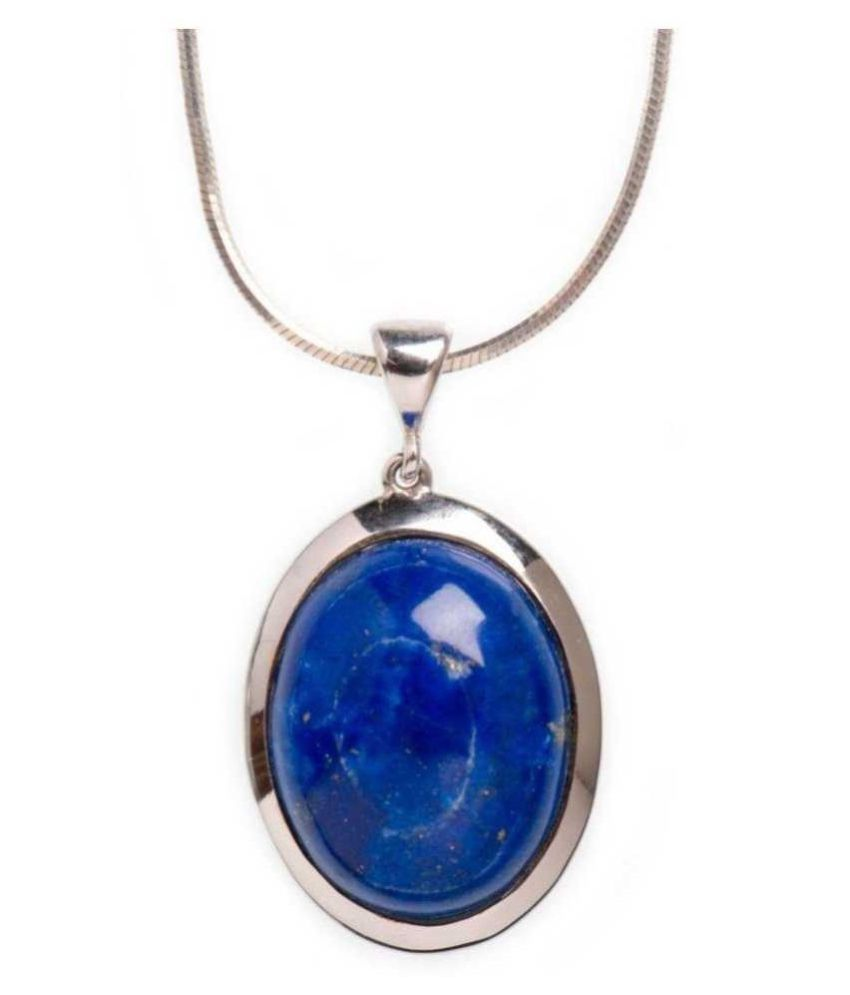 lapis lazuli  Pendant  4.25 Ratti 4.25 Original Silver lapis lazuli blue Stone by   Ratan Bazaar