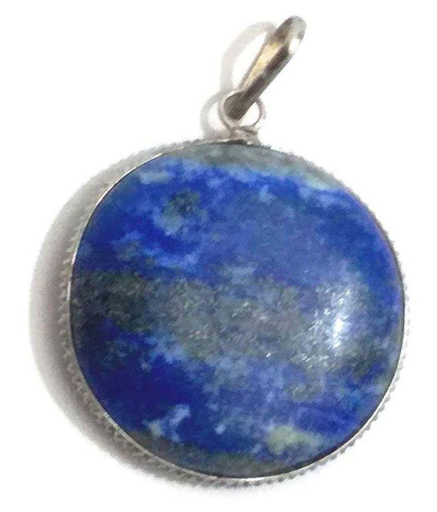 11.25 Carat lapis lazuli  Silver  Pendantby  Ratan Bazaar