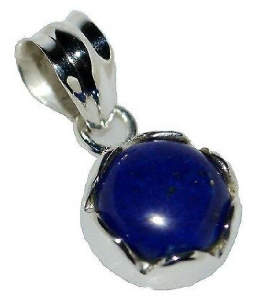 12 Ratti lapis lazuli  Pendant with Natural Silver lapis lazuli  Stone by  Ratan Bazaar