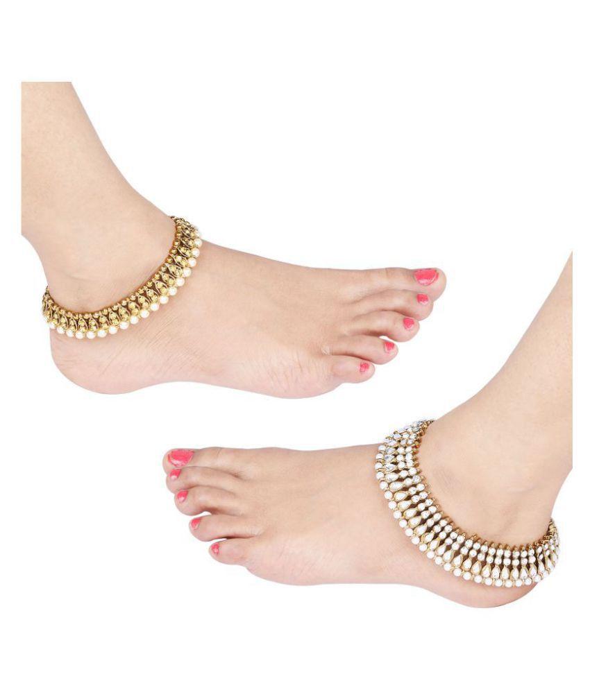 Designer Traditional  Anklet Wedding Jewellery  For Women Girls Set-2
