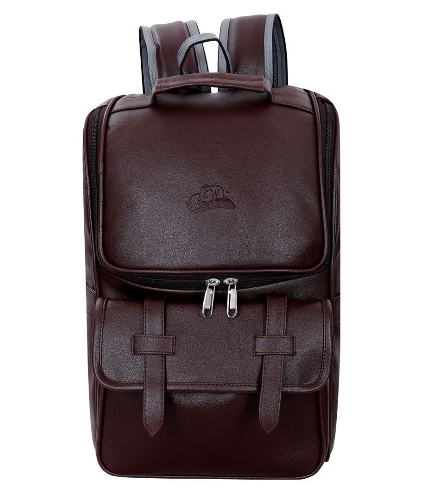 Leather Gifts Brown Leather College Bag