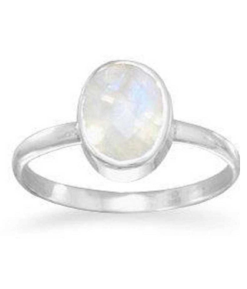 Natural MOONSTONE  7.25 Carat silver Ring  by  Kundli Gems\n
