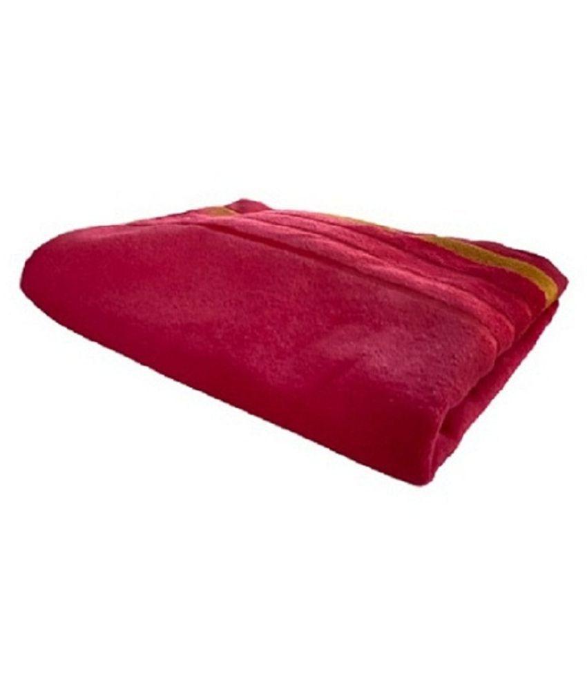 Yadadhri Single Cotton Bath Towel Maroon