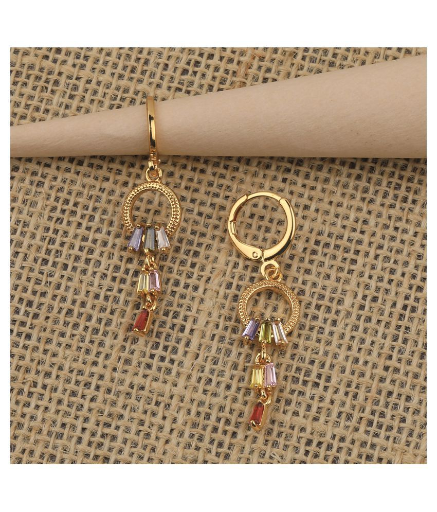 Gold Plated Fashion Party Wear Bali Earring For Women Girl