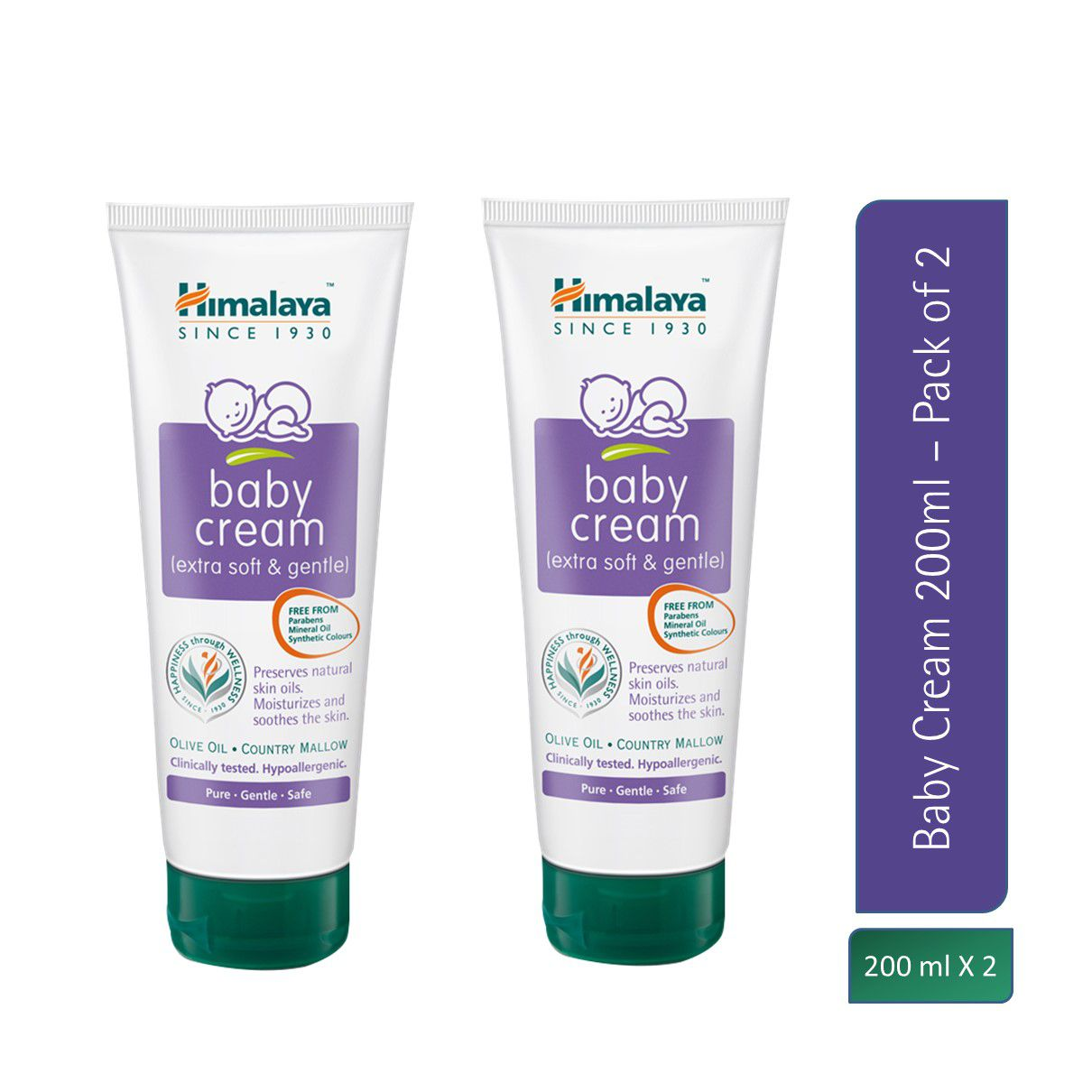 Himalaya Baby Cream 200ml  Pack of 2