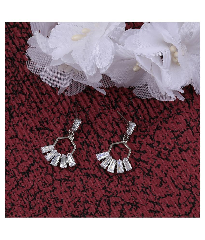 Silver Plated Charm Stylish Stud Earring For Women Girl