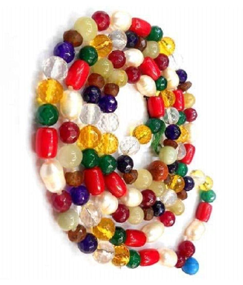 KUNDLI - GEMS Unheated & Original Navgrah Beads Mala For Astrological Purpose
