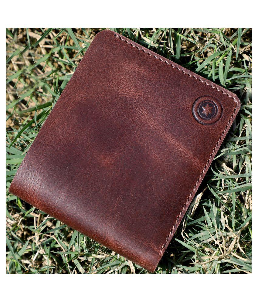 POLLSTAR Leather Brown Formal Regular Wallet