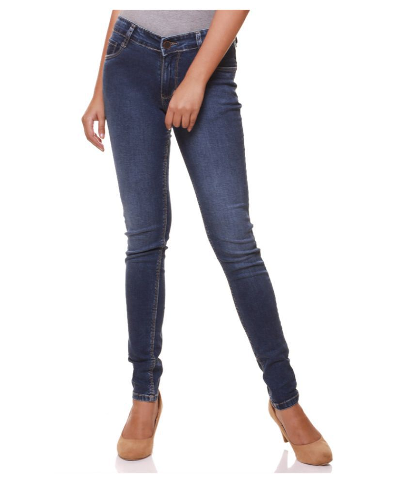 Flaunt Cotton Lycra Jeans - Blue