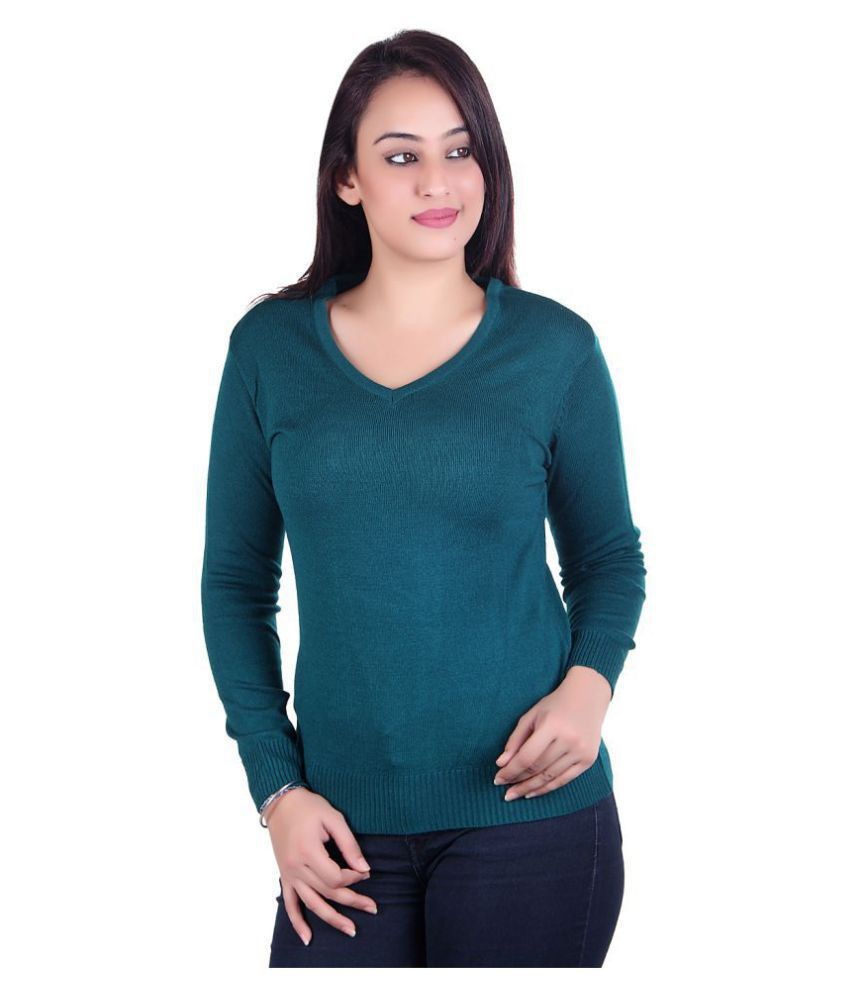 Ogarti Acrylic Green Pullovers
