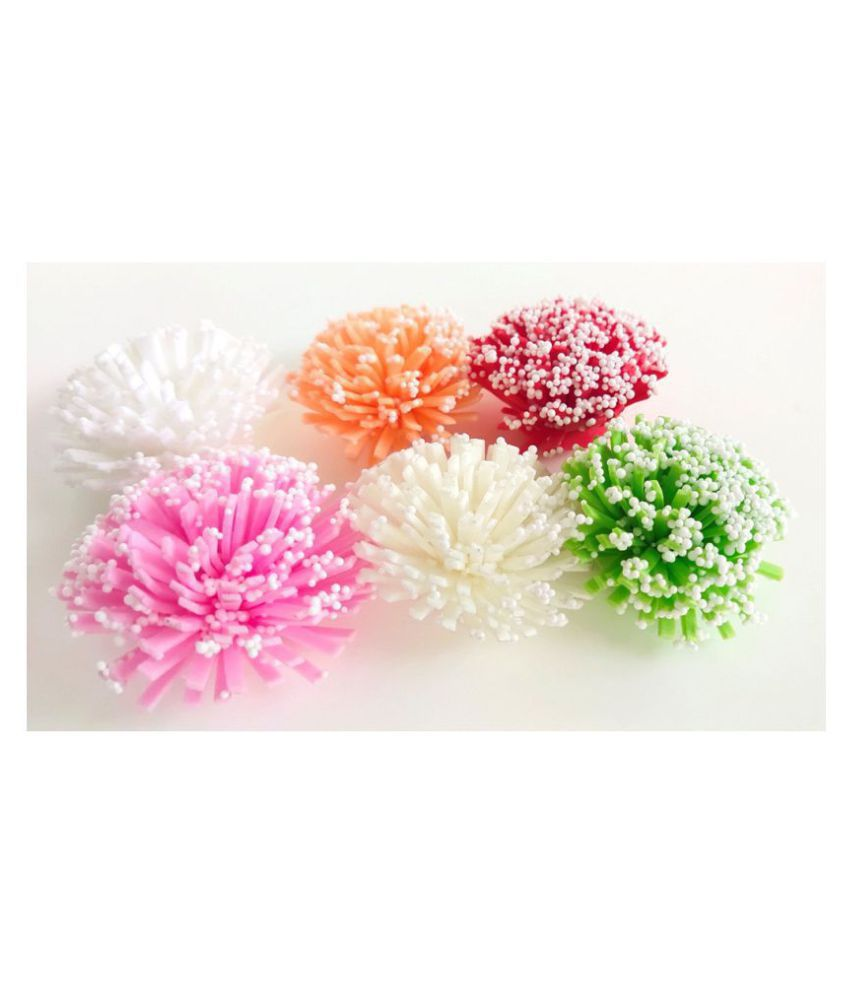 24Pcs Multi Color Artificial Flower For Decoration Art And craft H-0005