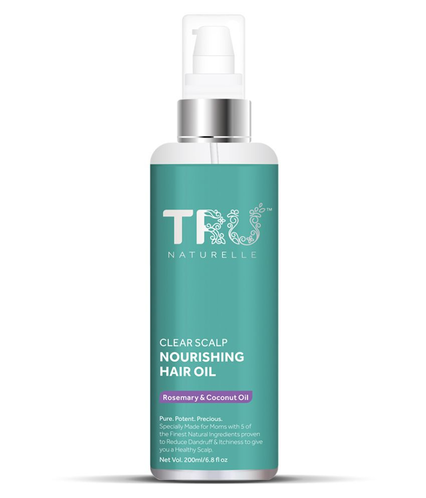 Tru Naturelle - Anti Dandruff Hair Oil with Rosemary and Coconut Oil to Clear Scalp and Nourish Hair | 200ml
