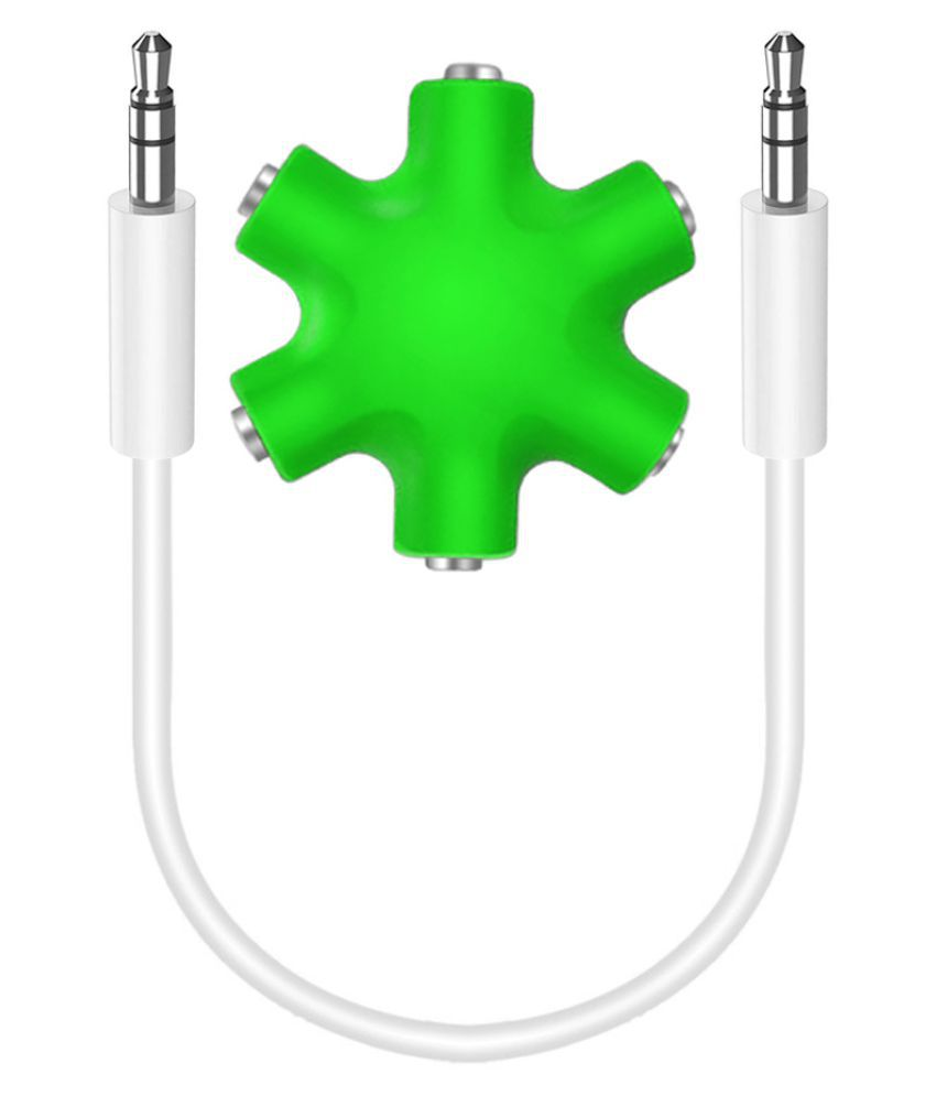 Triangle Ant Premium Quality RockStar Audio Splitter 6 Port (Green) RockStar AUX Splitter 0.1