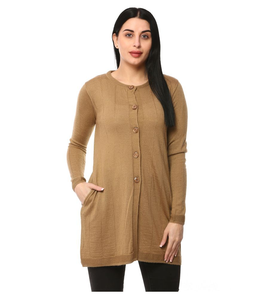 Glamaze Acrylic Brown Buttoned Cardigans