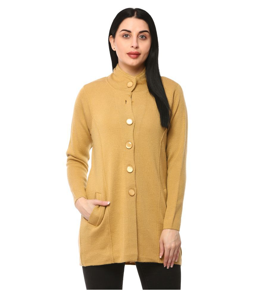 Glamaze Acrylic Yellow Buttoned Cardigans