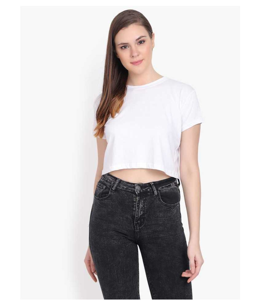 LA'REVE Cotton White T-Shirts