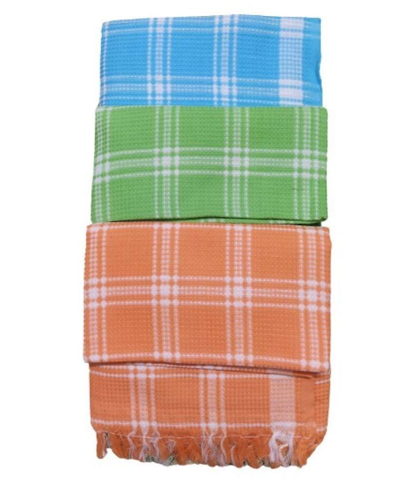 VIRUTSHAM Set of 3 Cotton Bath Towel Multi
