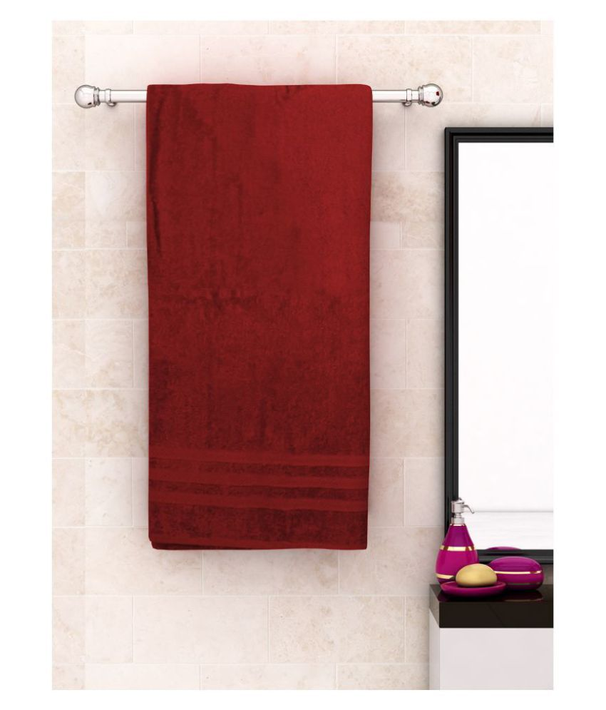 Athom Trendz Single Cotton Bath Towel Maroon