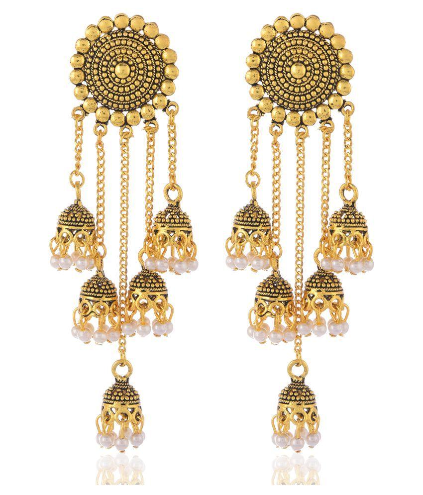 Bhagya lakshmi Women's Pride Traditional Alloy Contemprary Earrings For Women