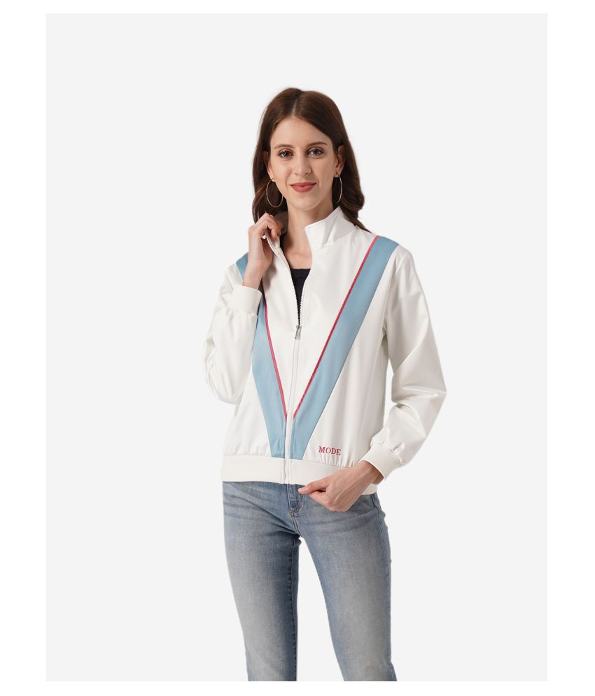 Mode By Red Tape Polyester Off White Jackets