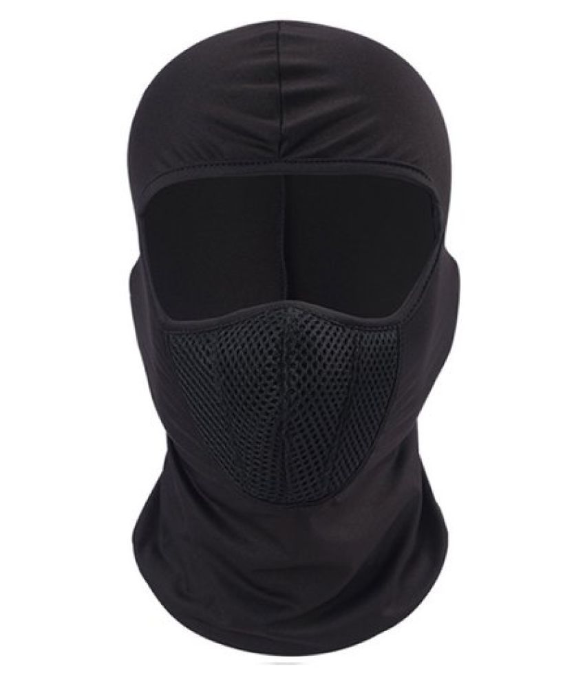 9lives Unisex Full Face Cover Breathable Cotton Blend Balaclava/ Rider Black Mask