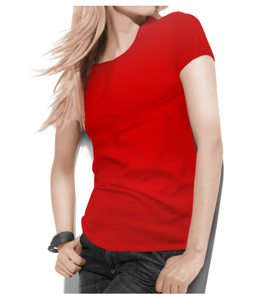 Teestra Cotton Red T-Shirts