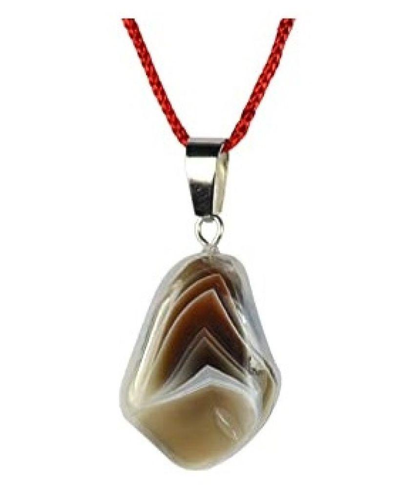 100% Natural 9 carat Multicolour Agate Punchdhatu Pendant without chain by Ratan Bazaar\n