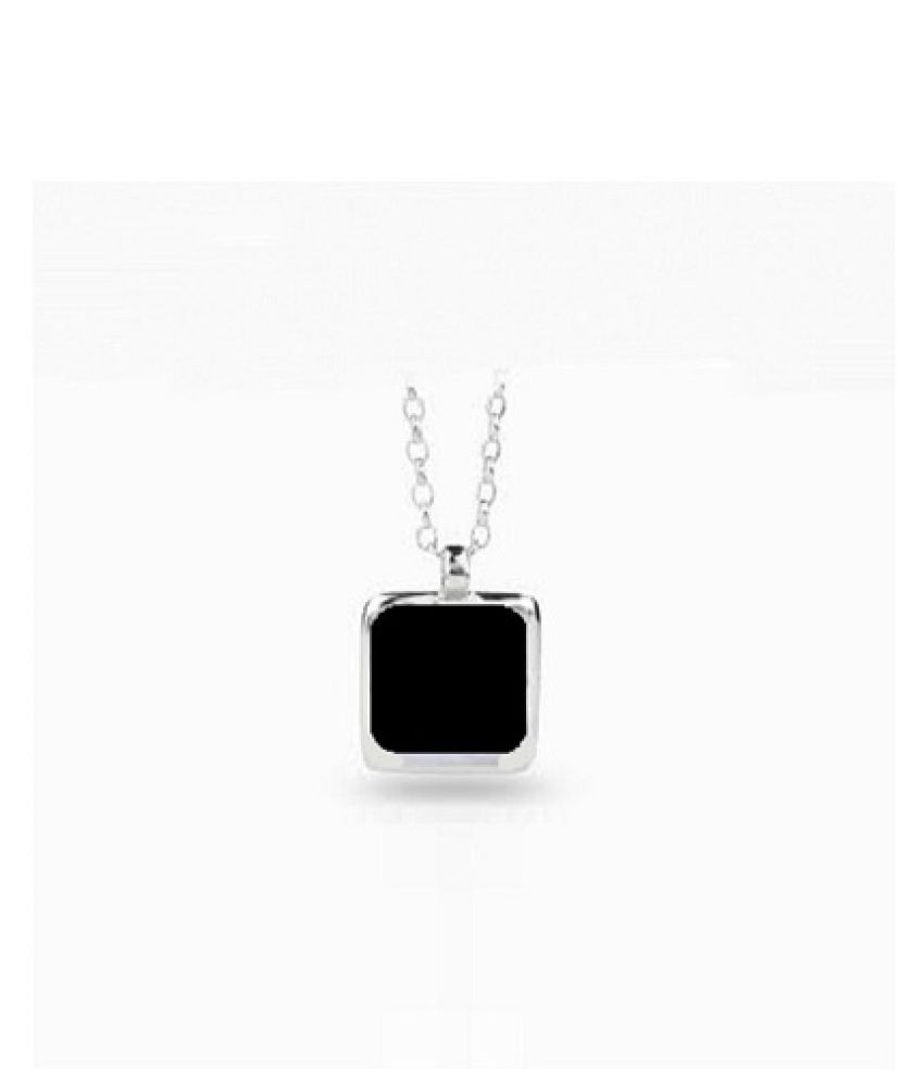 6 Carat Natural Stone silver Sulemani Hakik Pendant without chain for unisex by Ratan Bazaar\n