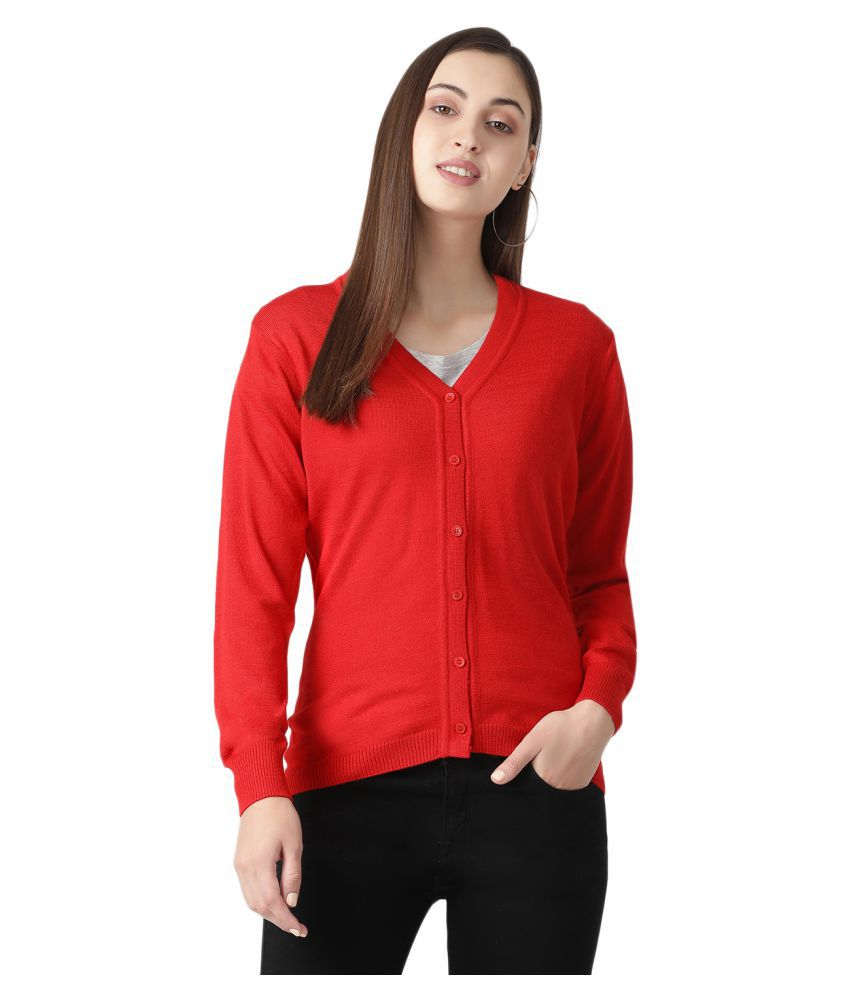 Monte Carlo Nylon Red Buttoned Cardigans