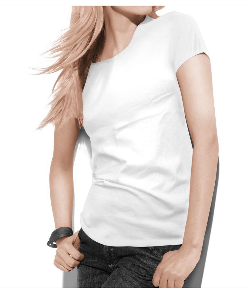 Teestra Cotton White T-Shirts